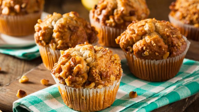Muffins de Avena, Limón y Frambuesa