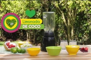 Limonada de coco con Stevia Life