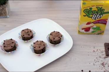 Cupcake de chocolate con Stevia Life