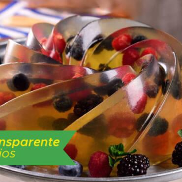 Gelatina Transparente de Frutos Rojos